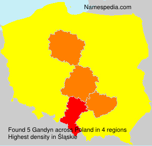 Surname Gandyn in Poland