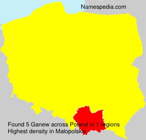Surname Ganew in Poland
