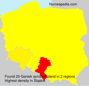 Surname Ganiek in Poland