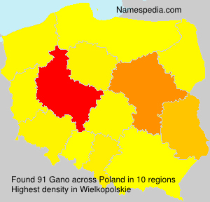 Surname Gano in Poland