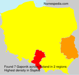 Surname Gaponik in Poland