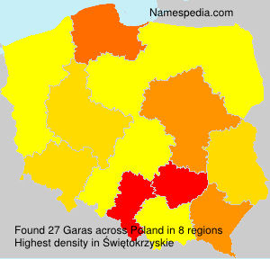 Surname Garas in Poland