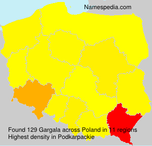 Surname Gargala in Poland