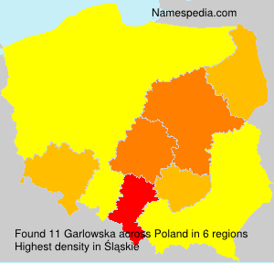 Surname Garlowska in Poland
