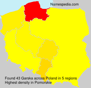 Surname Garska in Poland