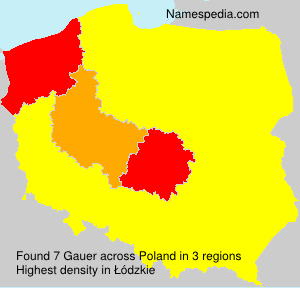 Surname Gauer in Poland