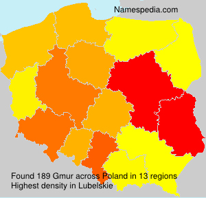 Surname Gmur in Poland