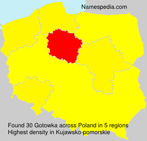 Surname Gotowka in Poland