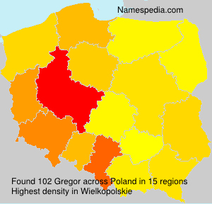 Surname Gregor in Poland