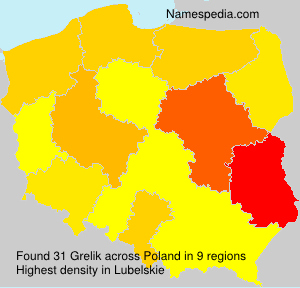 Surname Grelik in Poland