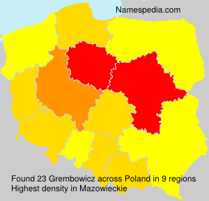 Surname Grembowicz in Poland