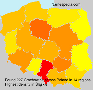 Surname Grochowina in Poland