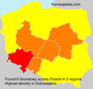 Surname Grondowy in Poland