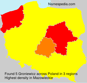 Surname Groniewicz in Poland