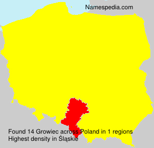 Surname Growiec in Poland