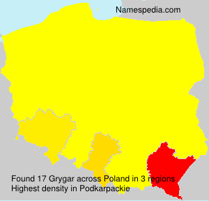 Surname Grygar in Poland