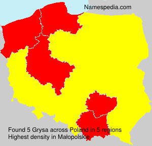 Surname Grysa in Poland
