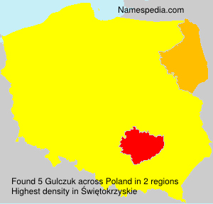 Surname Gulczuk in Poland