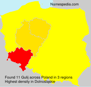Surname Gulij in Poland