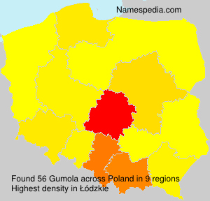 Surname Gumola in Poland