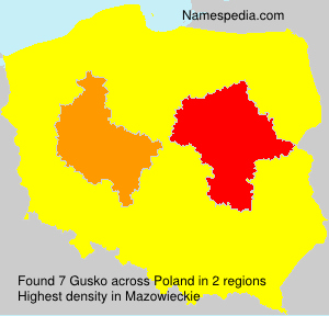 Surname Gusko in Poland