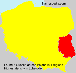 Surname Guszko in Poland