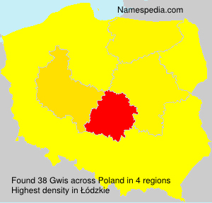 Surname Gwis in Poland