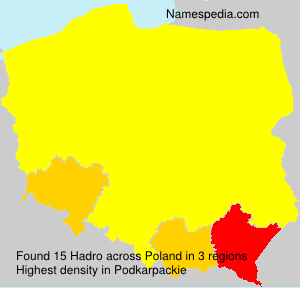 Surname Hadro in Poland