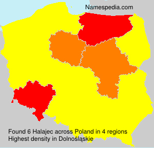 Surname Halajec in Poland