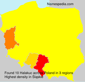 Surname Halakuc in Poland