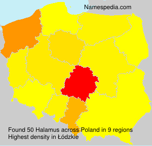 Surname Halamus in Poland