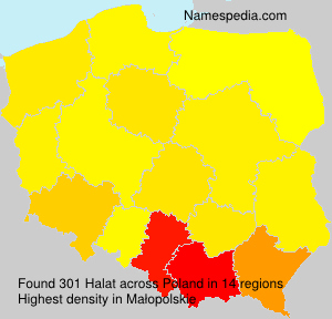 Surname Halat in Poland