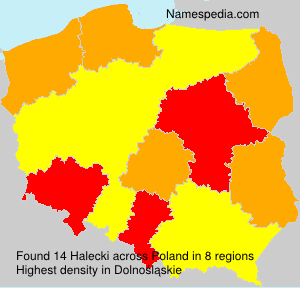 Surname Halecki in Poland