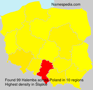 Surname Halemba in Poland