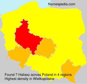 Surname Haliasz in Poland