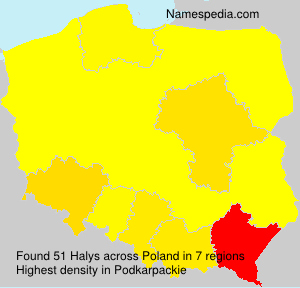 Surname Halys in Poland
