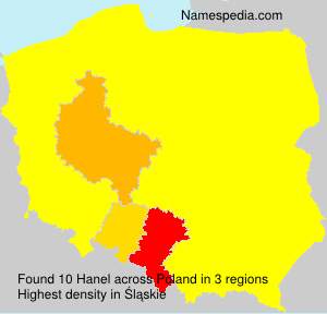 Surname Hanel in Poland