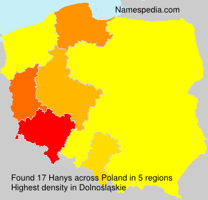 Surname Hanys in Poland