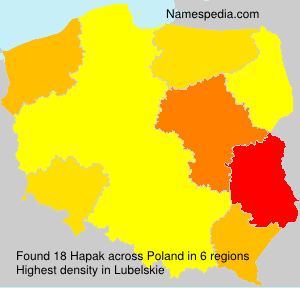 Surname Hapak in Poland
