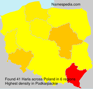 Surname Harla in Poland