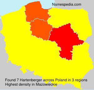 Surname Hartenberger in Poland