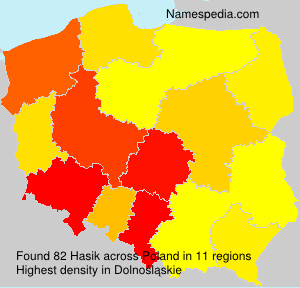 Surname Hasik in Poland