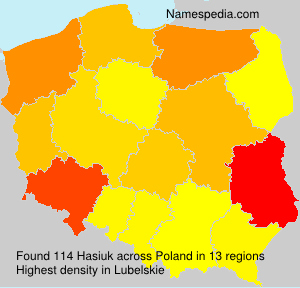 Surname Hasiuk in Poland