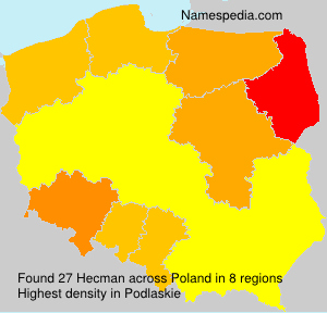 Surname Hecman in Poland