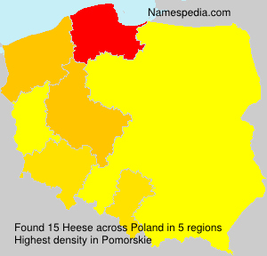 Surname Heese in Poland