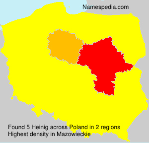 Surname Heinig in Poland