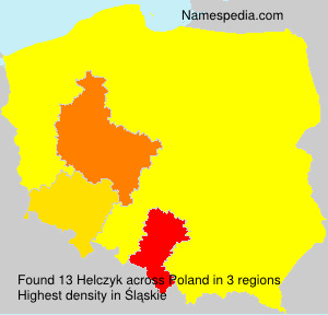 Surname Helczyk in Poland