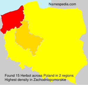 Surname Herbot in Poland