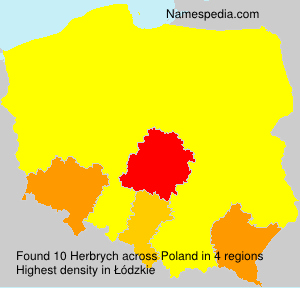 Surname Herbrych in Poland