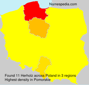 Surname Herholz in Poland